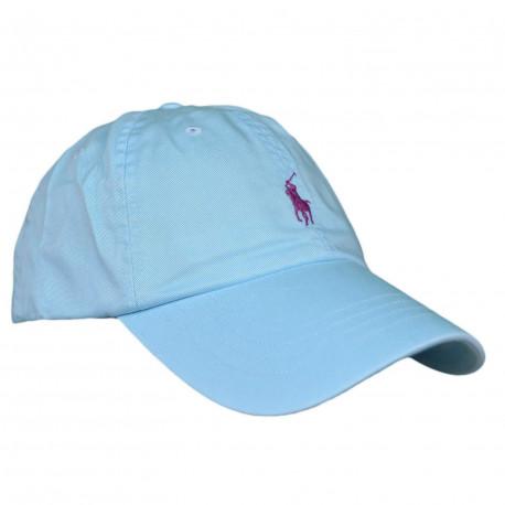 Sweat à capuche Ralph Lauren gris logo bleu marine basique en molleton pour homme