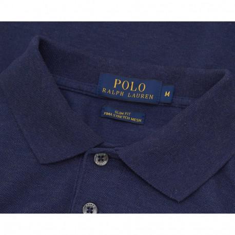 Chemise polo Ralph Lauren bleu à motifs en coton piqué pour homme
