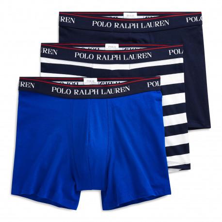 Lot de 3 boxers Ralph Lauren bleu et blanc pour homme
