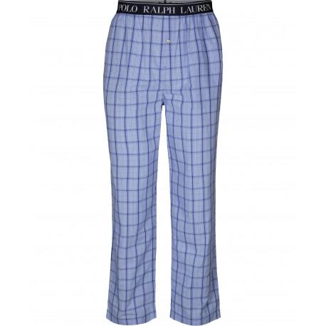 Pantalon de pyjama Ralph Lauren à carreaux bleu pour homme