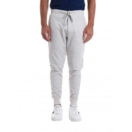 Pantalon jogging Ralph Lauren gris logo noir pour homme