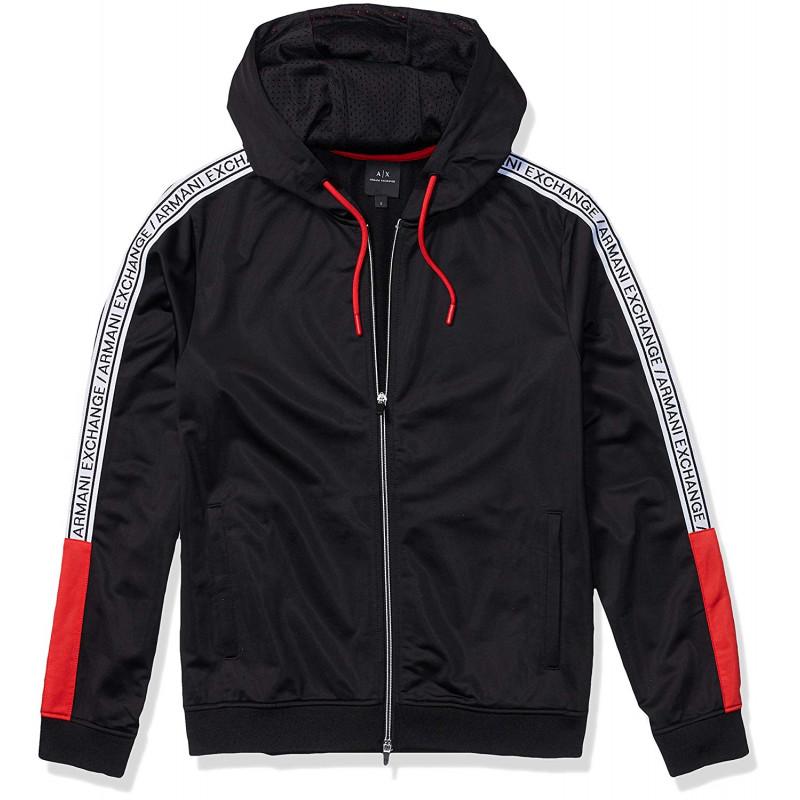 innovative design cute cheap well known Veste sweat à capuche Armani Exchange noire pour homme - Toujours a...