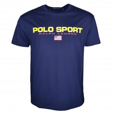 T-shirt col rond Ralph Lauren bleu marine POLO SPORT pour homme