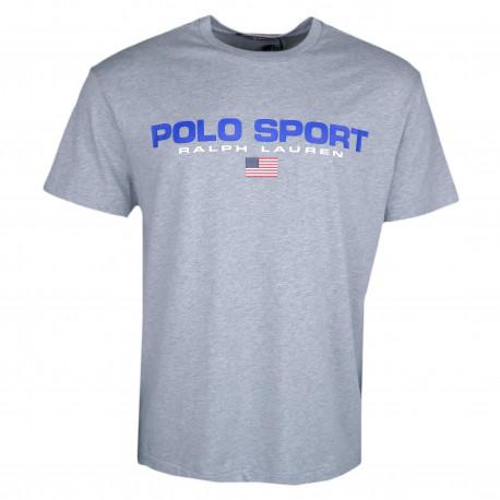 T-shirt col rond Ralph Lauren gris POLO SPORT pour homme