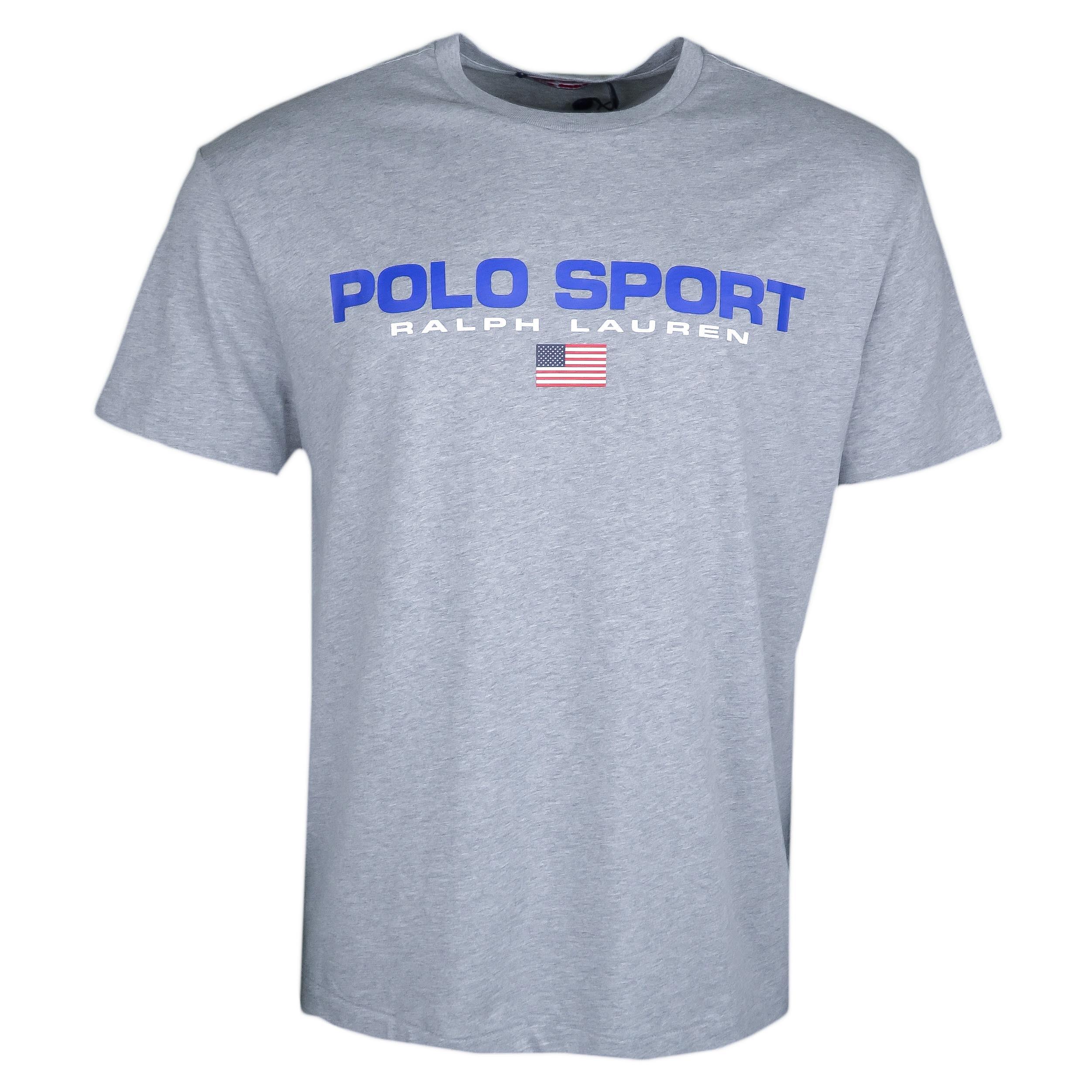 T-shirt col rond Ralph Lauren gris POLO SPORT