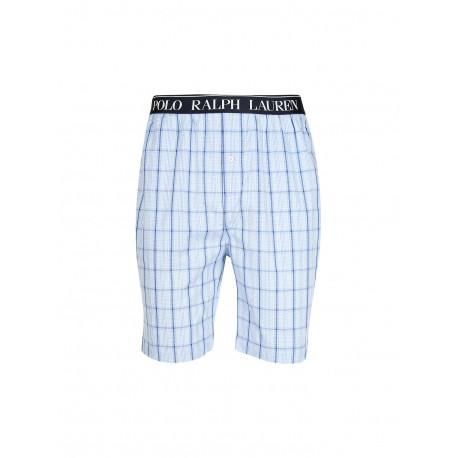 Short de pyjama Ralph Lauren à carreaux bleu pour homme