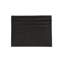 Porte-carte Ralph Lauren noir en cuir pour homme