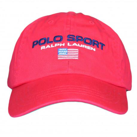 Casquette Ralph Lauren rouge POLO SPORT pour homme