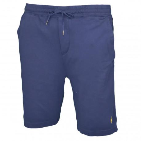 Short sport Ralph Lauren bleu marine logo jaune pour homme