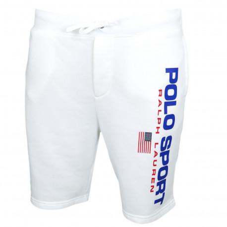 Short sport Ralph Lauren blanc POLO SPORT pour homme