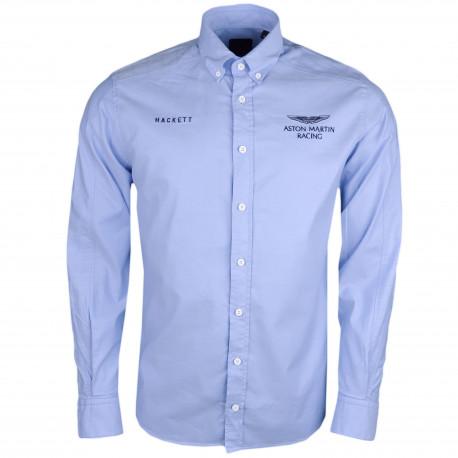 Chemise oxford Hackett Aston Martin bleu slim fit pour homme