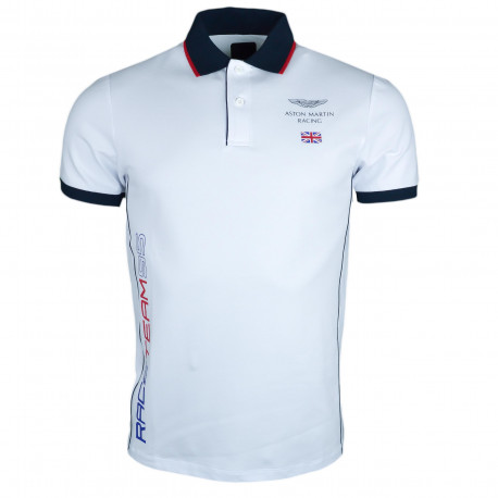 Polo Hackett Aston Martin blanc Race Team 95 slim fit pour homme