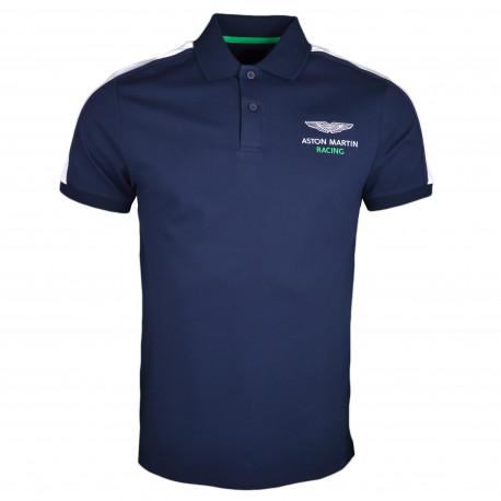 Polo Hackett Aston Martin bleu marine slim fir pour homme