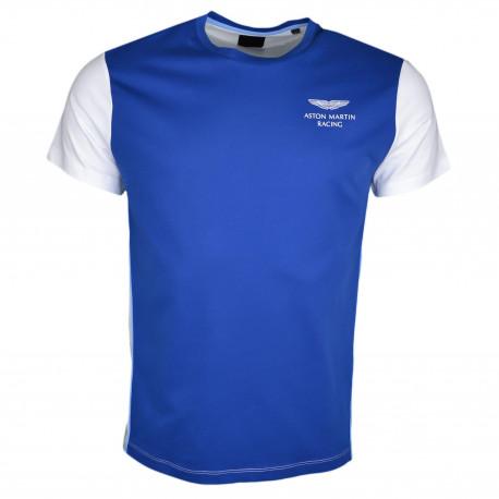 T-shirt col rond Hackett Aston Martin bleu et blanc pour homme