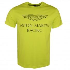 T-shirt col rond Hackett Aston Martin jaune pour homme