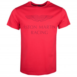 T-shirt col rond Hackett Aston Martin rouge pour homme
