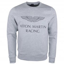 Sweat col rond Hackett Aston Martin gris pour homme