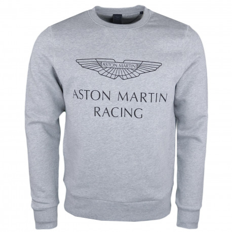 Sweat col rond Hackett Aston Martin gris pour homme