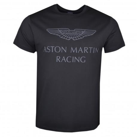 T-shirt col rond Hackett Aston Martin noir pour homme