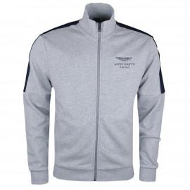Veste sweat zippée Hackett Aston Martin grise pour homme