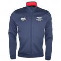 Veste sweat zippée Hackett Aston Martin bleu marine pour homme