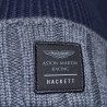 Bonnet Hackett Aston Martin bleu marine et gris en coton pour homme