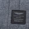 Echarpe Hackett Aston Martin bleu marine et grise en coton pour homme