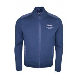 Veste doublée Hackett Aston Martin bleu marine en coton et nylon pour homme