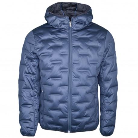 Manteau Armani Exchange bleu marine à capuche pour homme