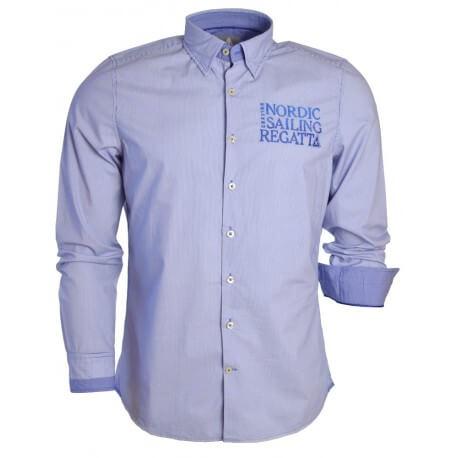 Chemise Veer- Rayée bleu