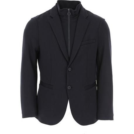 Veste blazer Armani Exchange bleu marine doublée pour homme
