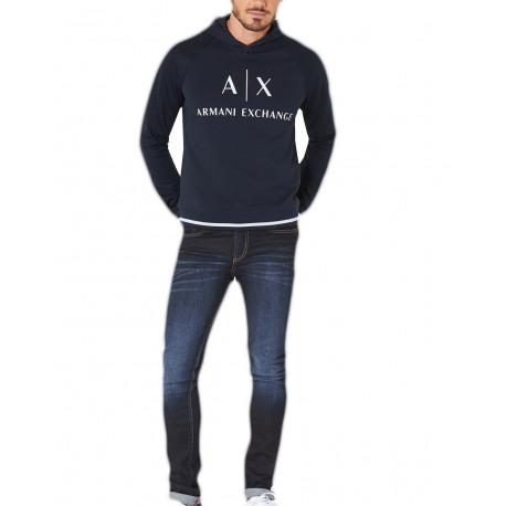 Jean Armani Exchange bleu brut slim pour homme