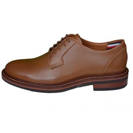 Chaussures de ville Tommy Hilfiger marron en cuir pour homme