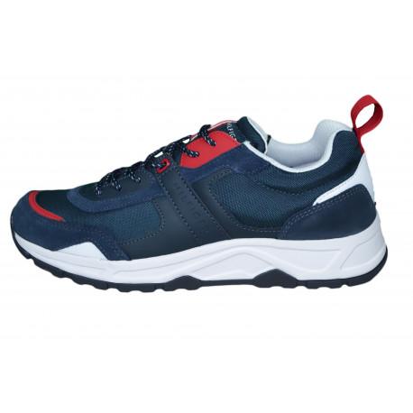 Baskets sneakers Tommy Hilfiger bleu marine blanc et rouge pour homme
