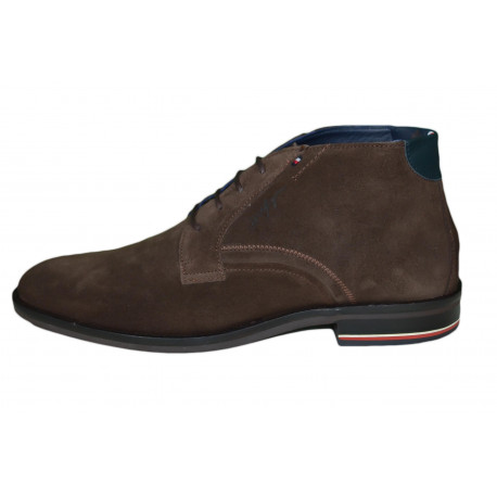 Bottines à lacets Tommy Hilifger marron en daim pour homme