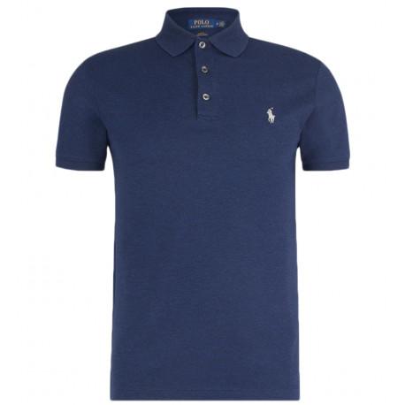 Polo Ralph Lauren bleu logo gris pour homme