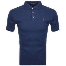 Polo Ralph Lauren bleu jersey pour homme