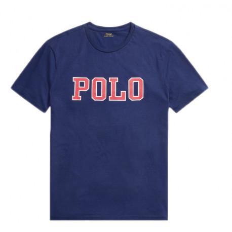 T-Shirt Ralph Lauren bleu marine écriture polo pour homme