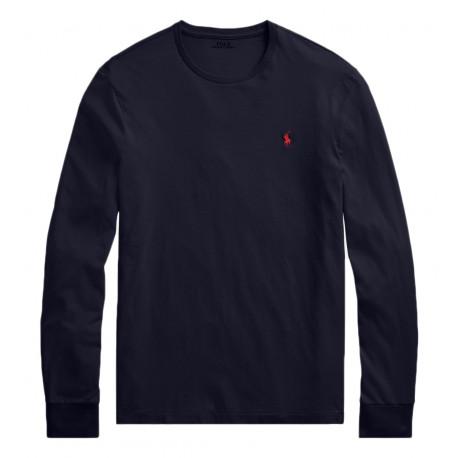 T-Shirt Ralph Lauren manches longues marine pour homme