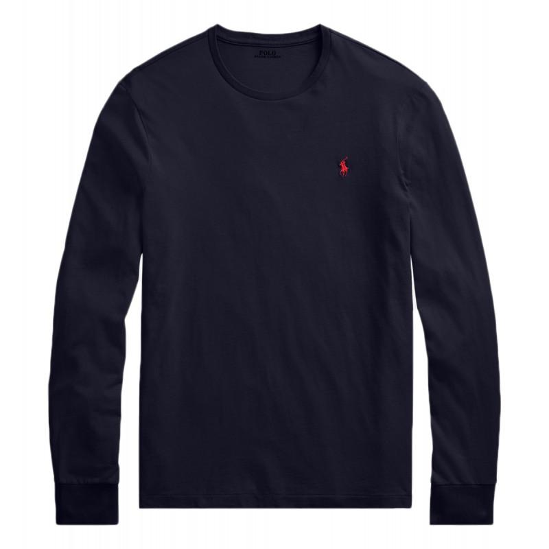 T-Shirt Ralph Lauren manches longues marine