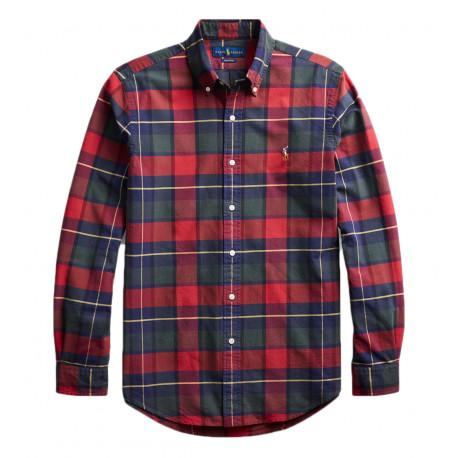 Chemise Ralph Lauren à carreaux rouge et vert pour homme