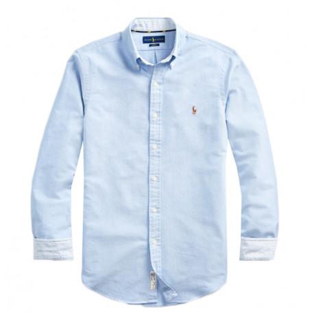 Chemise Ralph Lauren bleu Oxford pour homme