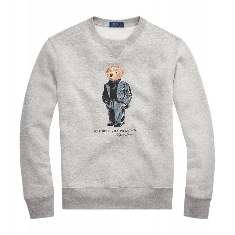 Sweat Ralph Lauren gris Polo Bear pour homme