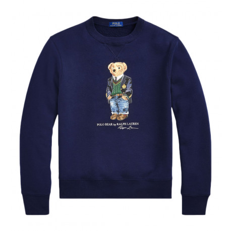 Sweat Ralph Lauren bleu marine Polo Bear pour homme