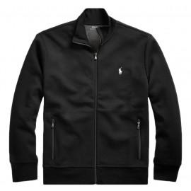 Veste Sweat Ralph Lauren noire logo blanc pour homme