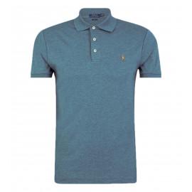 Polo Ralph Lauren bleu en coton jersey pour homme
