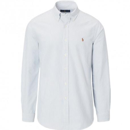 Chemise Ralph Lauren rayures bleu et blanche pour homme