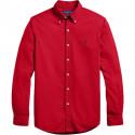 Chemise Ralph Lauren rouge logo marine pour homme