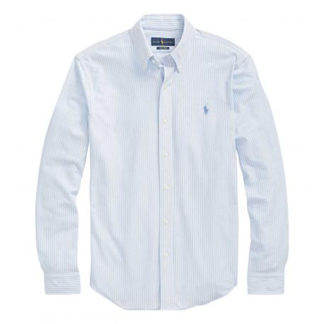 Chemise Ralph Lauren bleu rayures blanches pour homme