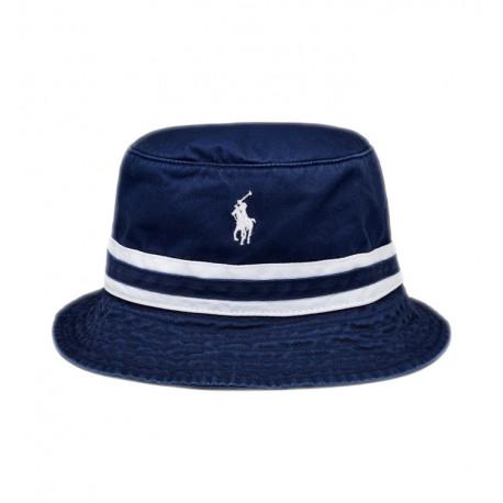 Bob Ralph Lauren bleu marine bandes blanches pour homme